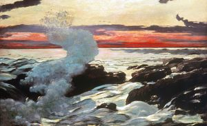 HOMER: PROUT'S NECK, 1900. Winslow Homer: West Point, Prout's Neck. Oil on canvas