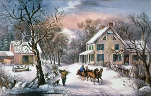 winter/homestead winter 1868 lithograph 1868 currier