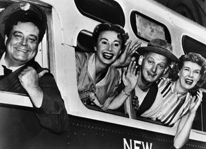 THE HONEYMOONERS, c1955. Left to right: Cast members Jackie Gleason, Audrey Meadows