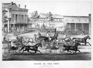 whats new b/horse racing c1869 going trot good day good