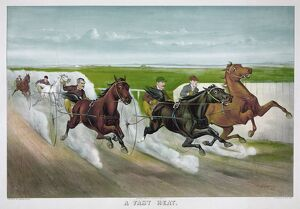 whats new b/horse racing c1887 a fast heat drivers horses