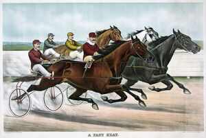 whats new b/horse racing c1894 a fast heat drivers horses