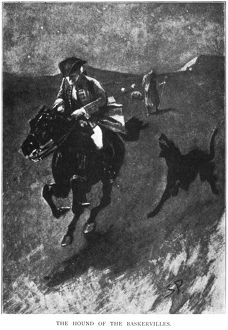HOUND OF THE BASKERVILLES. Illustration by Sidney Paget from the March 1902 issue