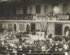 HOUSE OF REPRESENTATIVES. A session of the House of Representatives in the U.S