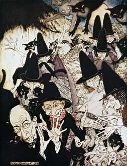 halloween/as i going st ives illustration arthur rackham