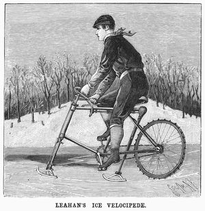 sports/ice velocipede 1896 leahans ice velocipede