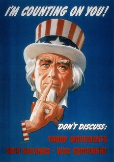 'I'm Counting On You!' American World War II poster featuring Uncle Sam