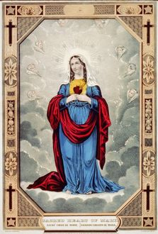 IMMACULATE HEART OF MARY. Devotional name used to refer to the Virgin Mary