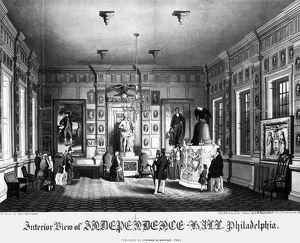 INDEPENDENCE HALL, c1860. Interior view of the State House (Independence Hall) in Philadelphia