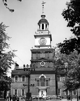 INDEPENDENCE HALL. Independence Hall, Philadelphia, constructed in the 1730s. Photograph