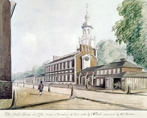 INDEPENDENCE HALL. 'The State House in 1778, from a drawing of that date by C.W