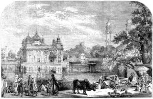 INDIA: GOLDEN TEMPLE, 1858. /nThe Golden Temple or Darbar Sahib, situated in Amritsar