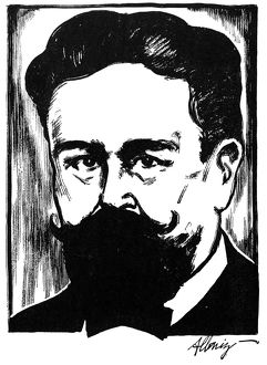 ISAAC ALBENIZ (1860-1909). Spanish composer and pianist. Drawing by Samuel Nisenson.