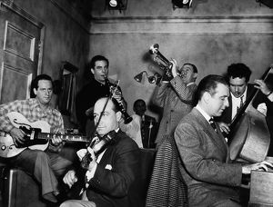 music musicians/jam session 1947 jam session hollywood studio