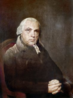 JAMES MADISON (1751-1836). 4th President of the United States. Oil on canvas, 1817