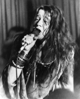 JANIS JOPLIN (1943-1970). American rock singer. Photographed at a concert, 1969.