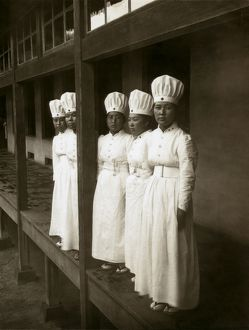 JAPAN: HOSPITAL, c1905. Nurses at a hospital in Japan. Photograph, c1905