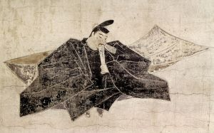 Japanese poet. Kanemori immortalized on the 'Scrolls of Thirty-Six Poets,&#39