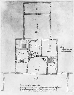 presidents/jefferson floor plan measured drawing governors