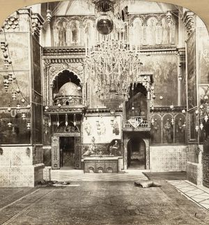 JERUSALEM: ARMENIAN CHURCH. Interior of the Armenian Apostalic Church in Jerusalem