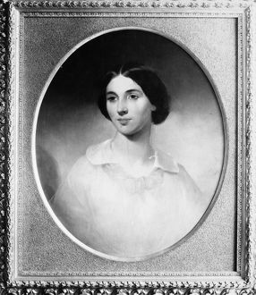 JESSIE ANN FREMONT (1824-1902) (nee Benton). American writer and wife of John Charles Fremont. Oil on canvas, n.d.