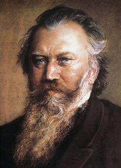 JOHANNES BRAHMS (1833-1897). German composer and pianist