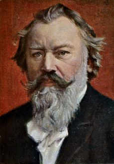 JOHANNES BRAHMS (1833-1897). German composer and pianist. Oil on canvas, 19th century.