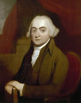 JOHN ADAMS (1735-1826). 2nd President of the United States. Oil on canvas by William Willliams