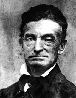 JOHN BROWN (1800-1859). American abolitionist. Daguerreotype, winter of 1856-57.