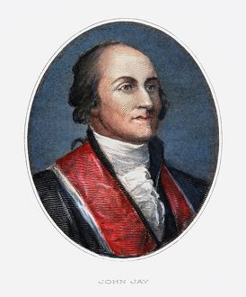 JOHN JAY (1745-1829). American jurist and statesman. American engraving, 19th century.