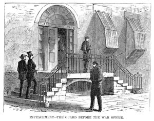presidents/johnson impeachment 1868 the guard war office
