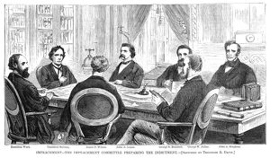 presidents/johnson impeachment 1868 impeachment committee