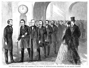presidents/johnson impeachment 1868 members house representatives