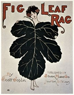 JOPLIN: SHEET MUSIC. Sheet music cover of Scott Joplin's 'Fig Leaf Rag,&quot