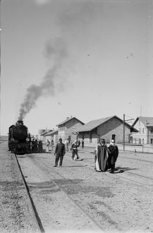 JORDAN: MA'AN, c1910. The Hejaz Railway in Ma'an, Jordan. Photograph, c1910
