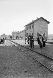JORDAN: MA'AN, c1910. The Hejaz Railway station in Ma'an, Jordan. Photograph