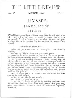 JOYCE: ULYSSES, 1918. The beginning of the serialization of 'Ulysses' by
