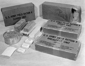 world war ii/k rations highly concentrated emergency field