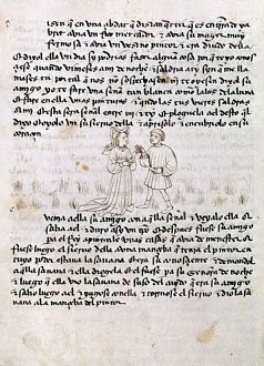 KALILA WA DIMNA. Page from a Latin translation of the Kalila wa Dimna, a traditional