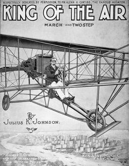 'King of the Air.' American sheet music cover, 1910, commemorating Glenn
