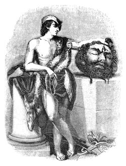 KING DAVID (d. 973 B.C.). King of Judah and Israel. David with the head of Goliath