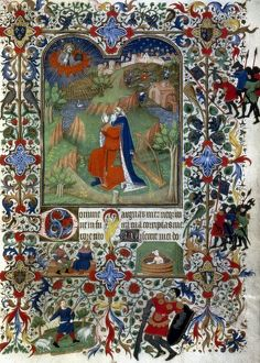 KING DAVID. Events in life of King David: illumination from a French Book of Hours