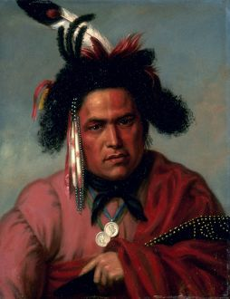 KING: MENOMINEE, 1835. Chenannoquot. Menominee. Oil on wood, 1835, by Charles Bird King