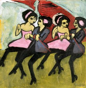 KIRCHNER: PANAMA GIRLS. Oil on canvas, 1910, by Ernst Ludwig Kirchner.