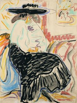 fine art/kirchner seated woman seated woman studio