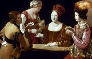 LA TOUR: THE CHEAT, c1625. Georges de La Tour: The Cheat. Canvas, c1625.