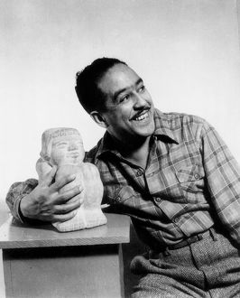 LANGSTON HUGHES (1902-1967). American writer. Photographed by Gordon Parks, 1943.