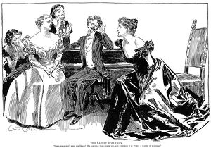 charles dana gibson/the latest nobleman pen ink drawing charles