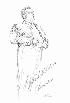 LAURITZ MELCHIOR (1890-1973). American (Danish born) operatic tenor. Pencil drawing.