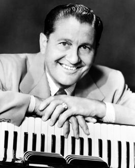 LAWRENCE WELK (1903-1992). American orchestra leader. Photographed in c1955.